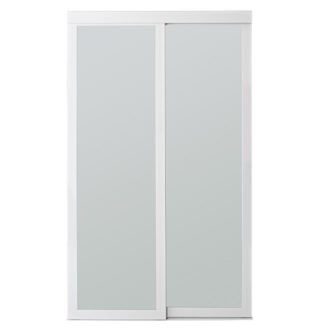 COLONIAL ELEGANCE Frosted Sliding Door - White Frame - 48