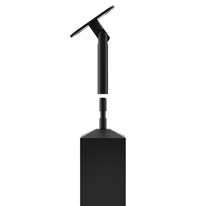 """Poteau carré Colonial Elegance, 2"""" x 34,5""""-36"""", inox, noir"""