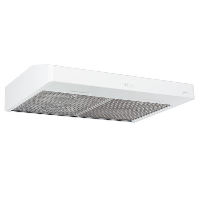 """Hotte sous-armoire Bistro 30"""", 400 PCM,  blanc"""