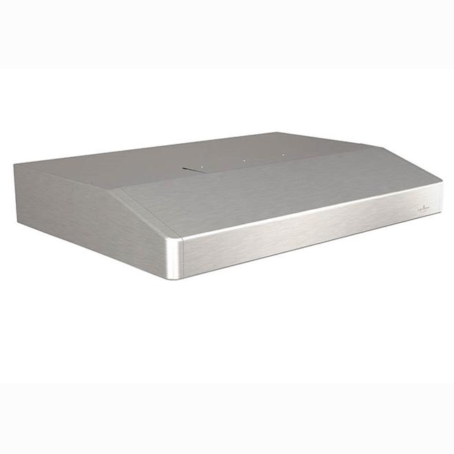 """Hotte sous-armoire 30"""", 250 PCM, acier inoxydable"""