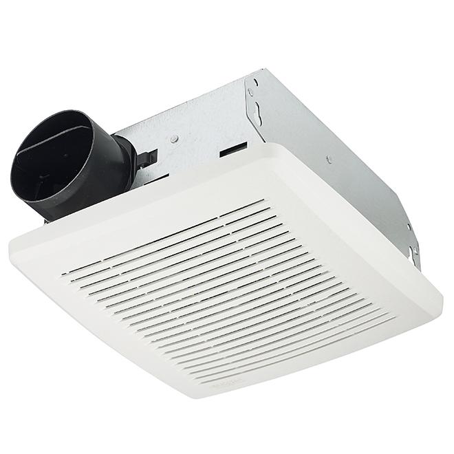Ventilateur de salle de bain, 50pi²/min, 2,5sones, blanc