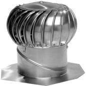 Turbine rotative avec support interne, aluminium 12''