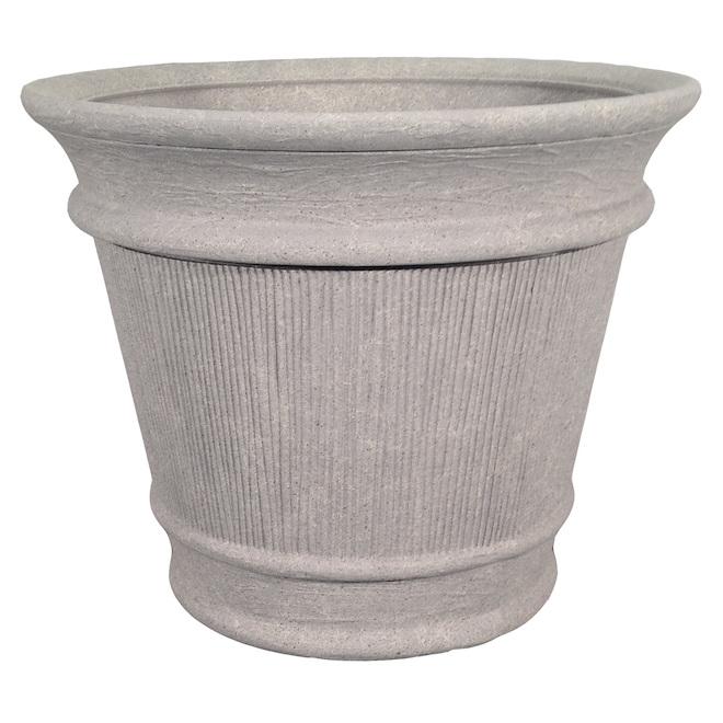 Grosfillex Planter - Outdoor/Indoor Resin - 15.87-in Grey