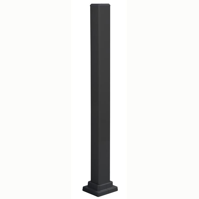 Poteau de rampe d'escalier, 3'' x 40 1/2'', noir