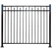 Imperial Kool-Ray Ornemental Fence - 48-in x 72-in - Black