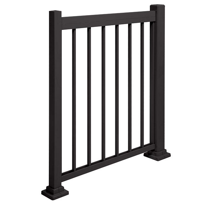 Poteau de montage en aluminium, 43 1/2'', noir