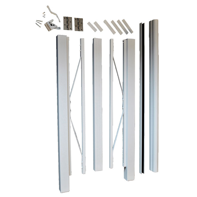 "Barrière en aluminium, 42"" x 48"", blanc"