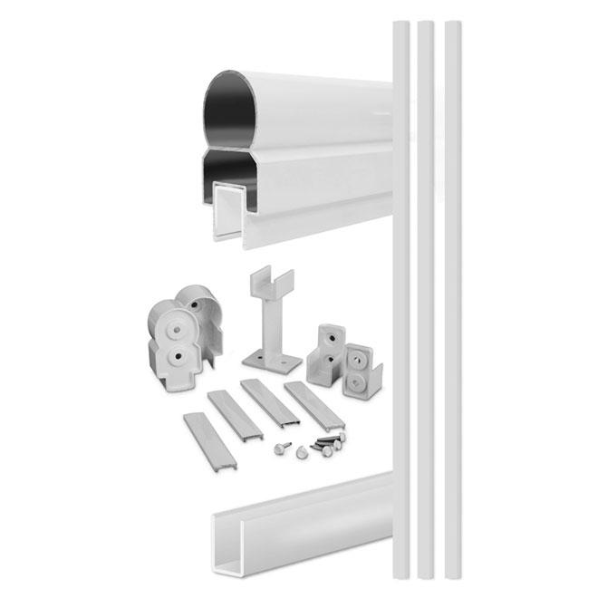 """Rampe en aluminium, 48"""" x 60"""", blanc"""