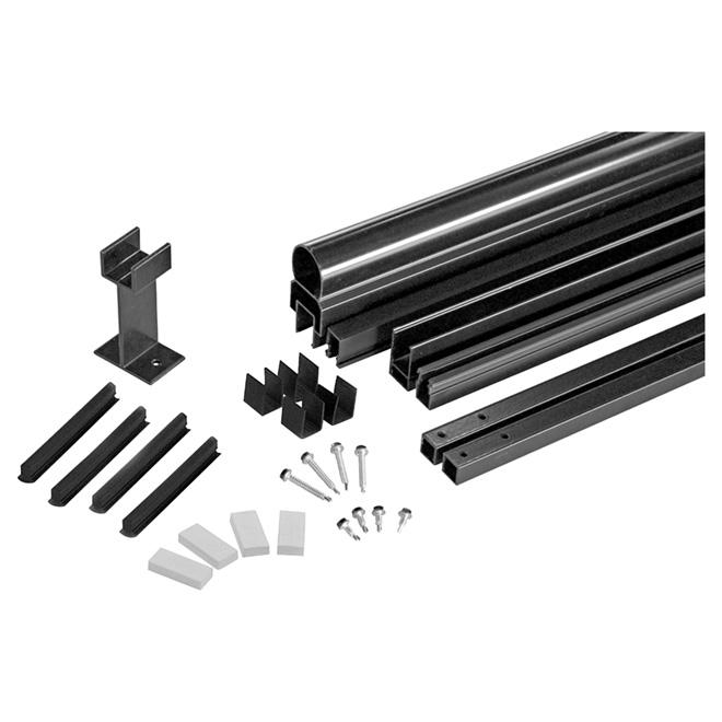 "Aluminum Railing Framing Kit - 42"" x 72"" - Black"