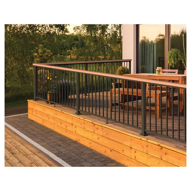 "Exterior Fence Post - Aluminum - 2"" x 34 1/2"" - Black"