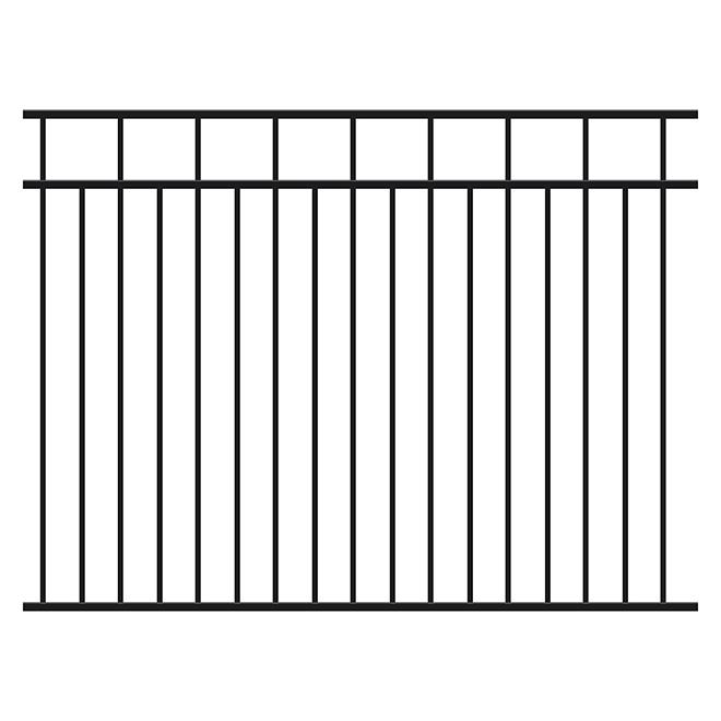 Clôture sectionnelle en aluminium Imperial Kool-Ray, 48 po x 72 po x 1 po, légère, thermolaquée, noire