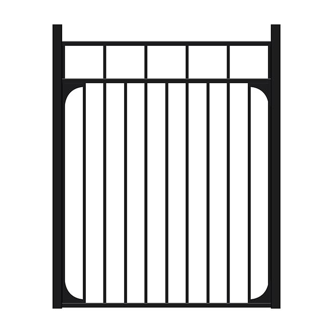 Ensemble pour clôture décorative sans barreaux à pointes Imperial, 48 po x 48 po x 5/8 po, aluminium, thermolaqué, noir