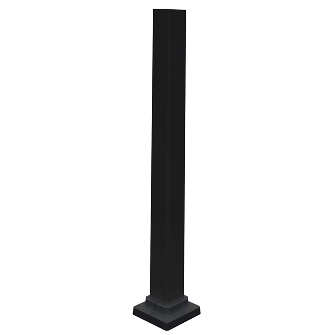 Aluminum Stair Post Duo - 2'' x 38'' - Black