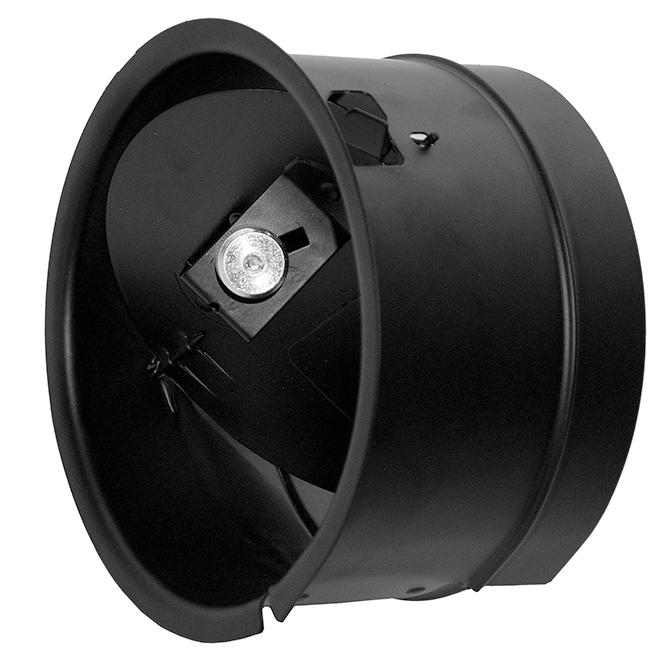 Imperial Barometric Damper - Steel - 6'' - Black
