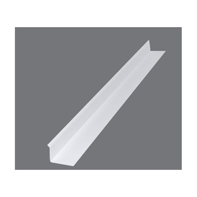 Gentek Drip Cap Return - Aluminum - 12-ft - White