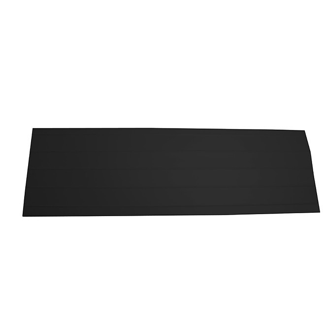 """Bordure de toit en aluminium, 7,5"""" x 10', noir"""