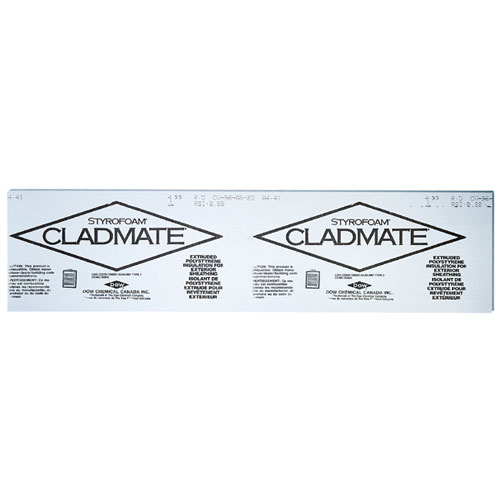 "Panneau isolant rigide Cladmate, 1 1/2"" x 2' x 8'"
