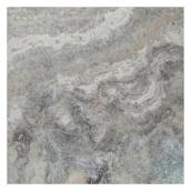 Troy Travertine Tile - Matte Silver - 16
