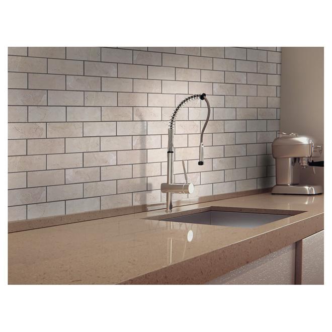 """""""Brick"""" Mosaic Porcelain Tile - Beige"""