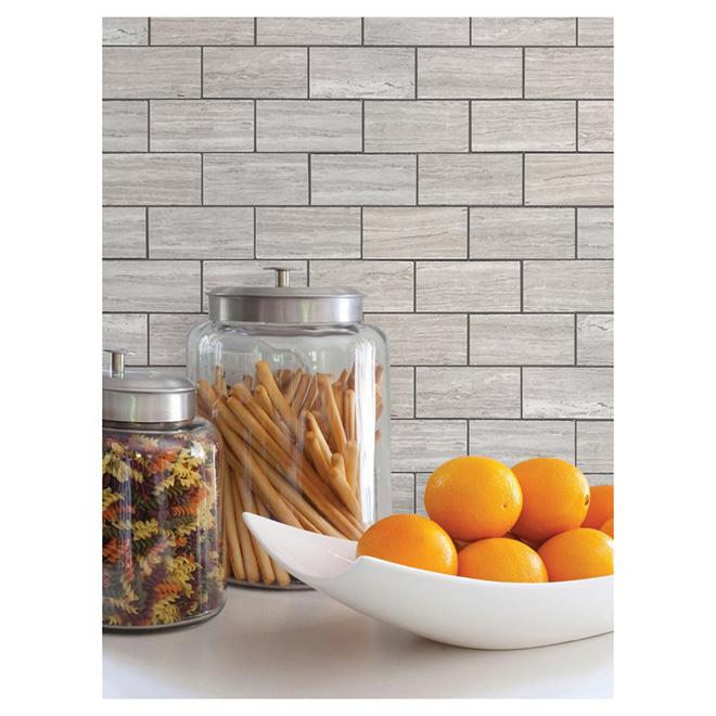 """Brick"" Mosaic Porcelain Tile - Grey"