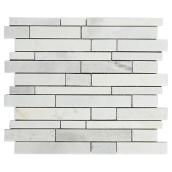 Marble Wall Tiles - Carrera Mosaic - 5/Box