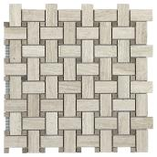 Marble Wall Tiles - Basket Mosaic - 6/Box