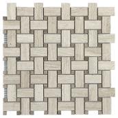 Tuiles de marbre, mur, motif entrelacé, 6/boite