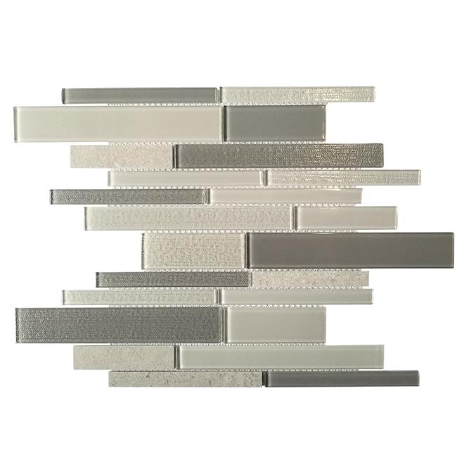 Tuiles de porcelaine Arctic Fog, boîte de 10, gris