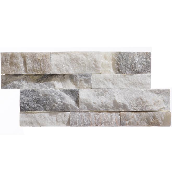 "Ceramic Wall Mosaic - Ledgestone - 6"" x 12"" - White - 6/box"