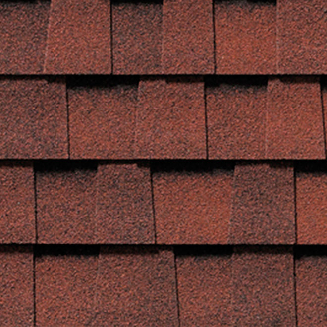 """Mystique 42"" Roofing Shingle - Red Magenta"
