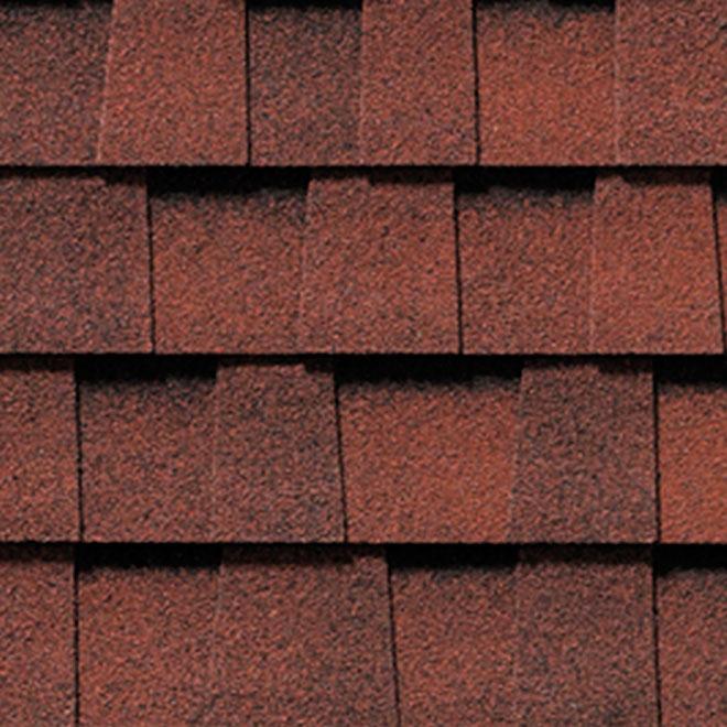 Bardeaux de toiture « Mystique 42 », rouge magenta