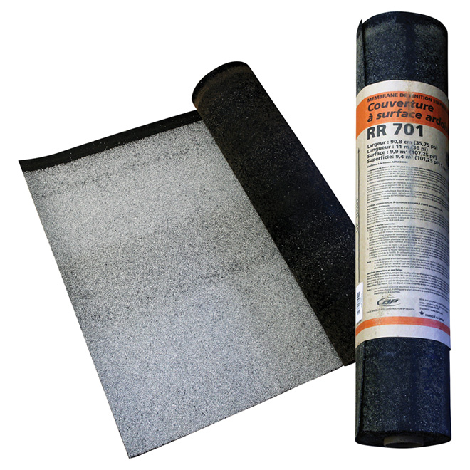 Slate Surface Roll Roofing - 3' x 36' - 100 sq. ft. - White