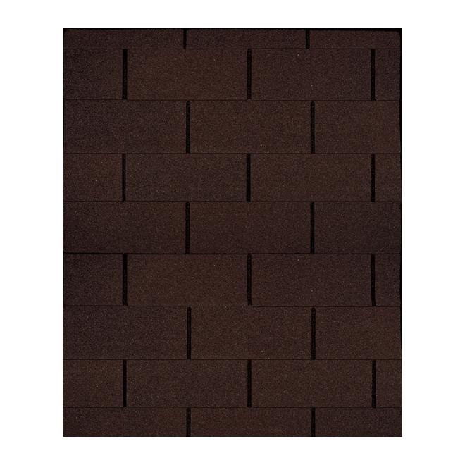 Bardeau «Dakota», fibre de verre, brun classique, 21/pqt