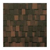 Bardeau «Mystique 42», fibre de verre, brun 2 tons, 19/pqt