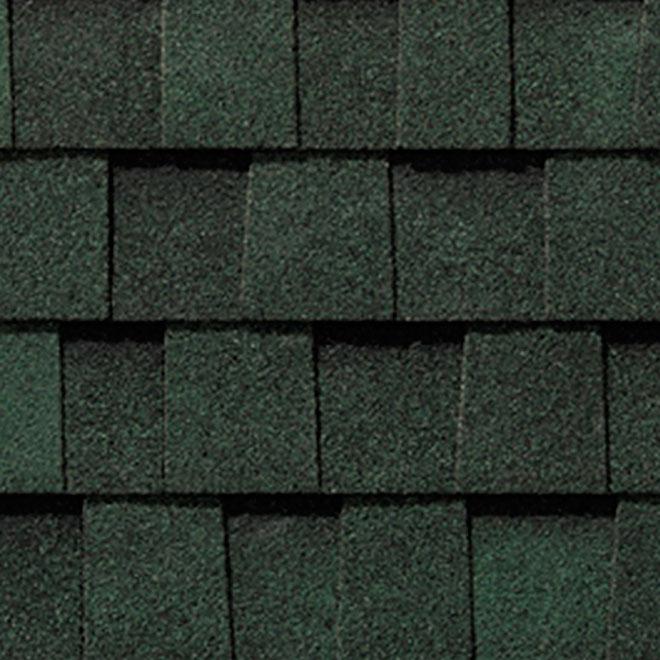Bardeau de toiture Mystique 42, 32,9 pi², vert boréal