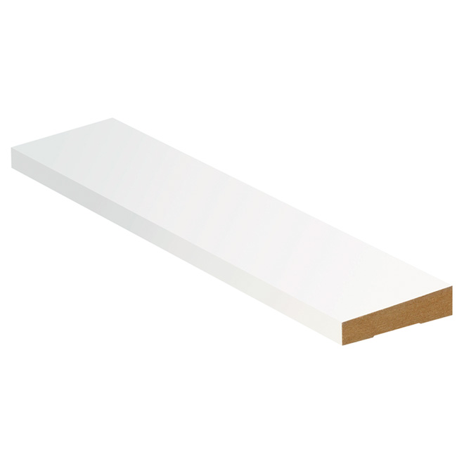 "MDF Contemporary Casing - 5/8"" x 2 1/2"" x 14'3"" - Primed"
