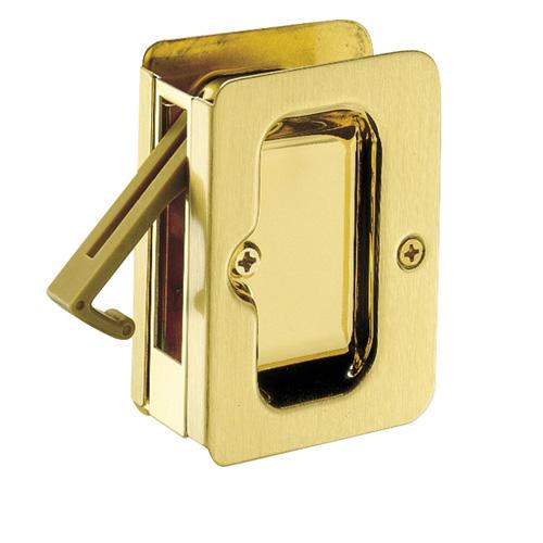 Bright Brass Passage Sliding Door Lock