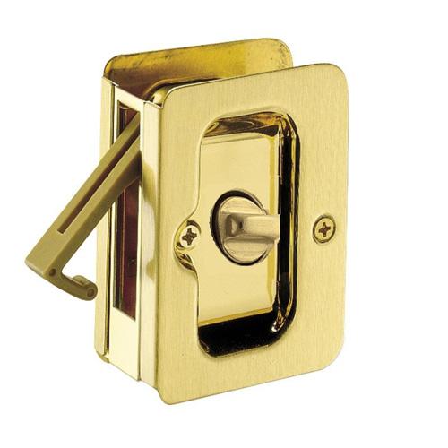 Bright Brass Privacy Sliding Door Lock
