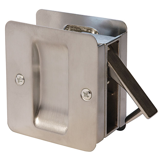 Passage Knob for Sliding Door - Satin Chrome