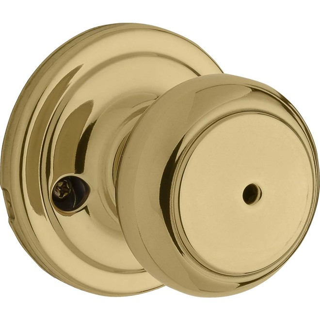 Weiser Privacy Knob - Troy - Bright Brass