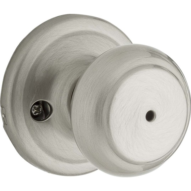 Weiser Privacy Knob - Troy - Satin Nickel