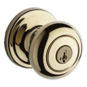 Weiser Locking Entrance Knob - Troy - Bright Brass