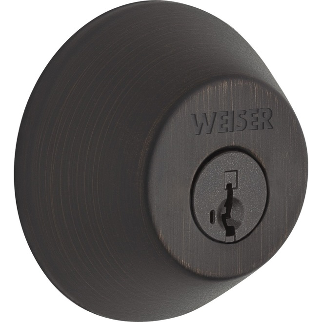 Weiser Single-Cylinder Deadbolt - Welcome Home Series - Venetian Bronze
