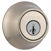 Weiser Single Cylinder Deadbolt - Elements Series - Satin Nickel