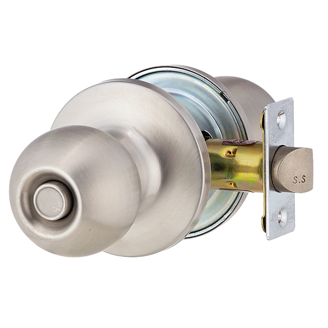Private Door Knob - Adjustable Latch - Stainless Steel
