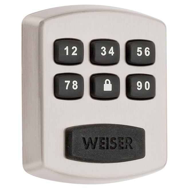 Weiser Electronic Deadbolt Powerbolt 1 - Satin Nickel