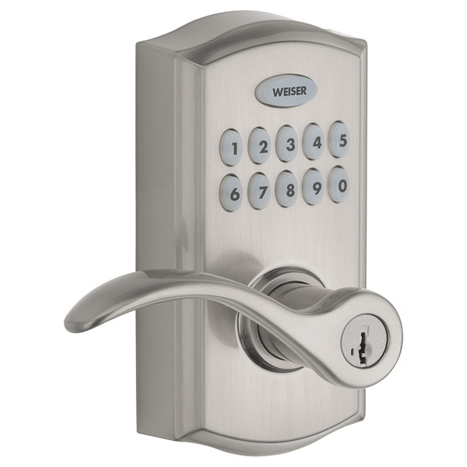 Smartcode Electronic Lever - Brushed Nickel
