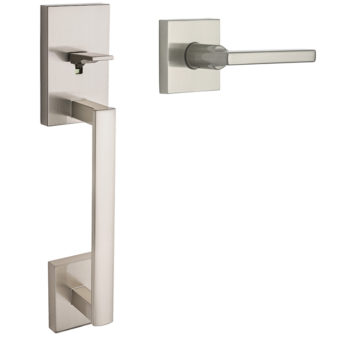 Weiser Entrance Handle Set without Deadbolt - San Clemente - Satin Nickel