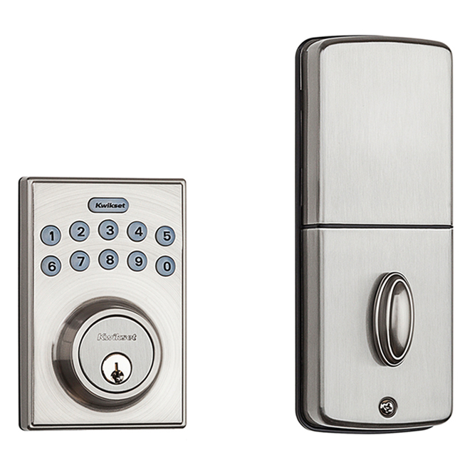 Kwikset Electronic Deadbolt - Contemporary Style - Satin Nickel