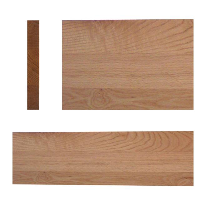 """Select Red Oak Stair Riser - 42"""" - Natural"""